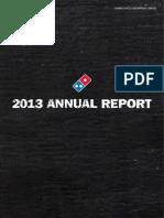 Dominos 2013 Annual Report