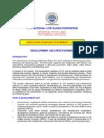ILS Position Statement  Aid Effectiveness