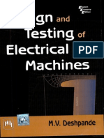 129083502 Design and Testing of Electrical Machines