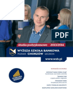 Informator - studia podyplomowe - Wyższa Szkoła Bankowa w Chorzowie