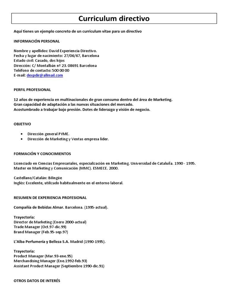 Moderno Mejores Ejemplos De Currículos De Marketing Festooning ...