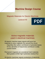 Lecture9 - Magnetic Materials for Electric Machines