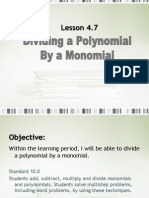 4 7 dividing a polynomial by a monomial