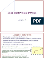 Solar Photovoltaic Physics lecture7