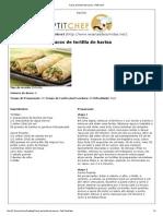 Tacos de Tortilla de Harina - Petit Chef