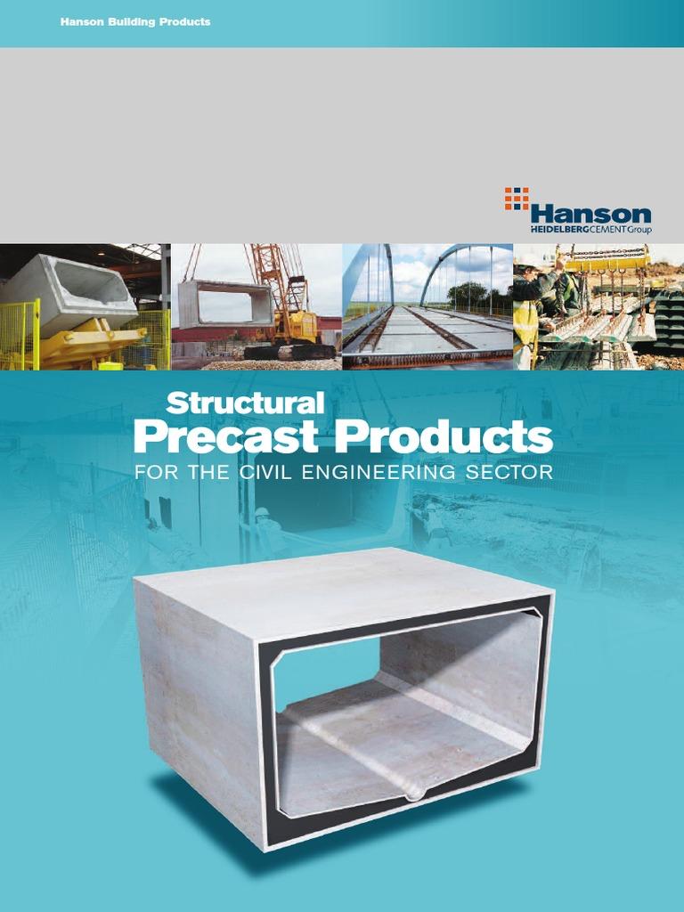 Hanson Structural Precast Products Precast Concrete Masonry