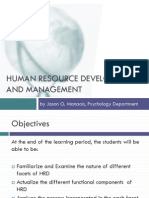 HR Development and Management Updated