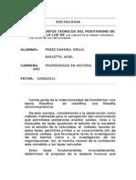 Fundamentos Teoricos Del Positivismo - COMTE