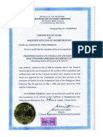 PhilRES Amended Articles of Incorporation