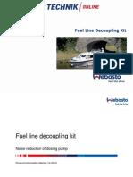 Webasto Fuel Line Decoupling Kit