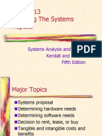 Final Exam Scope Chap13 Preparing System Proposal