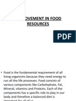 Improvement in Food Resources