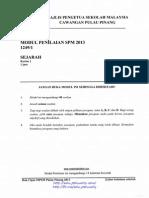 Penang Trial SPM 2013 Sejarah