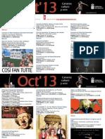 Agenda Cultural OCT 23 Al 27