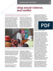 Understanding Sexual Violence HIV-AIDS and Conflict