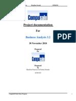 Compusell Entry Screen program Hamilton Setende 207063303 CompuSell Order Entry Program Project documentation For Business Analysis 3.2 30 November 2010