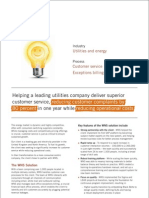 Utilities Customer Care Case Study by WNS June 2009