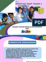 Kursus Orientasi DSKP 4 19082013-Terkini