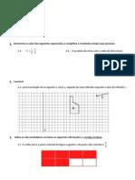 Ficha de Avaliação mat6 - proporcionalidade