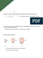 Ficha de Avaliação mat6 - volumes