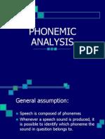 LECTURE 10 Phonemic Analysis (1)