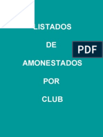 LISTADO DE AMONESTADOS
