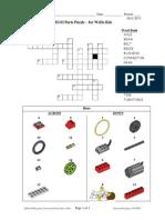 Lego Wedo Parts Crossword Puzzle Basic v4