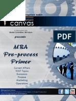 MBA Pre-Process Primer