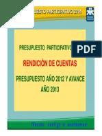 Rendición de Cuentas, Gerencia de Planiamiento y Presupuesto. G. de Administración