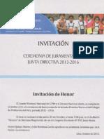 Invitación Juramentación CPPe 2013