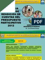 Rendicion de Cuenta 2012 Gerencia de Desarrollo Humano