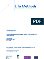 Connected Communities - Understanding Community - a Review of Networks, Ties and Contacts