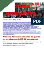 Noticias Uruguayas miércoles 23 de octubre del 2013