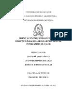 DISEÑO Y CONSTRUCCIÓN DE UN EQUIPO DIDÁCTICO PARA DESARROLLAR PRÁCTICAS DE INTERCAMBIO DE CALOR