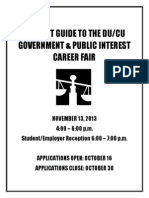 Student Guide to the DU/CU Government & Public Interest Career Fair