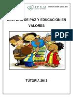 tutoría - Cultura de paz y educación en valores