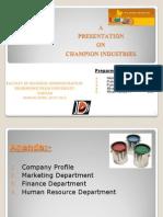 champian paints presentation