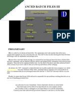 Advanced Batch Files III