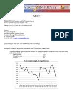 October 2013 - Fall Wisconsin Survey