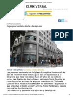 Expropiar Tambien Afecta a Las Iglesias - Caracas - El Universal