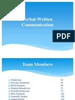 Verbal Written Communication