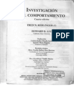 63518695 Fred N Kerlinger Investigacion Del Comportamiento