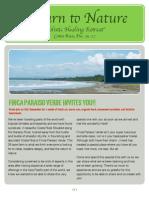 Return to Nature Brochure