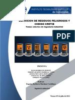 3.43definicion de Residuos Peligrosos y Codigo Cretib