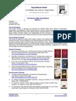 100 Inductive Bible Study Method Syllabus