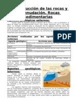 Destrucción de las rocas y la denudación, rocas sedimentarias