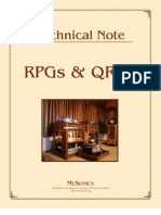 RPGs & QRDs Acoustic Diffusers