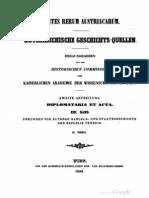 Tafel & Tomas - Fontes Rerum Austriacarum 2 (XIII.II.)  (1205 - 1255)