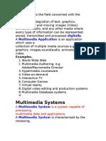 Multimedia Notes II