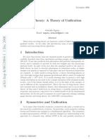 Oswaldo Zapata - String Theory, A Theory of Unification